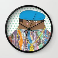 biggie Wall Clocks featuring Biggie by Late Greats