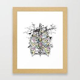 Skeleton of a human thorax Framed Art Print