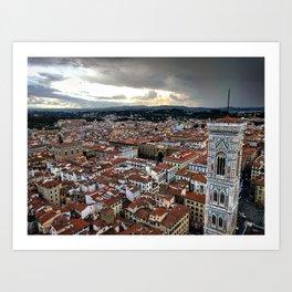 {Italy} - Panoramic Florence Art Print
