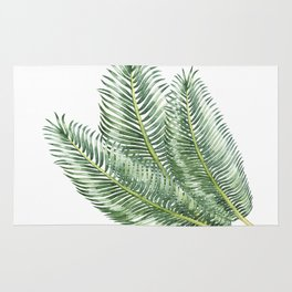 Three Palm Leaves Rug