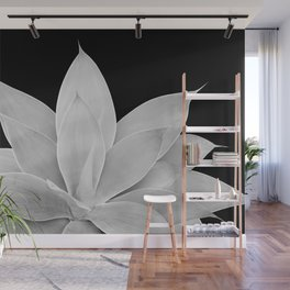 Gray Agave on Black #2 #tropical #decor #art #society6 Wall Mural