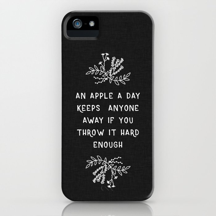 an apple a day bw iphone case