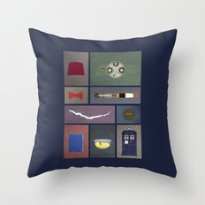 Eleven (Doctor Who) Colors Throw Pillow