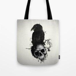 Raven and Skull Tote Bag