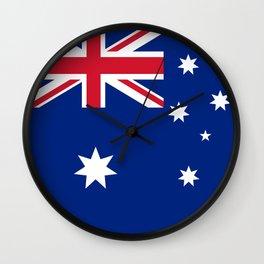 Australian flag, HQ image Wall Clock