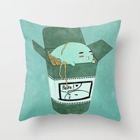 pasta Throw Pillows featuring Pasta Pudding by Luna Aldrin