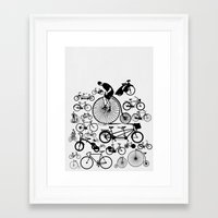 bicycles Framed Art Prints featuring Bicycles by Ewan Arnolda
