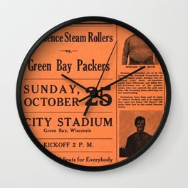 1931 Providence Steam Rollers Advertising Football Game Poster Wall Clock