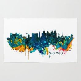Las Vegas Watercolor Skyline Rug