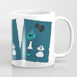 Extraterrestrial girl and her pet Coffee Mug