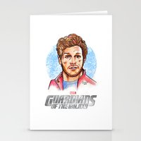 star lord Stationery Cards featuring Star Lord by Nicolaine