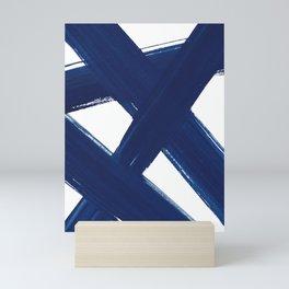 Indigo Abstract Brush Strokes | No. 3 Mini Art Print