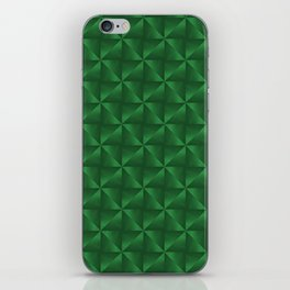 Pyramids and Windmills in Green iPhone Skin