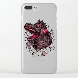 Dino with Headphones Finn Clear iPhone Case
