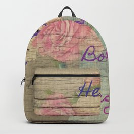 heart is the boss Backpack