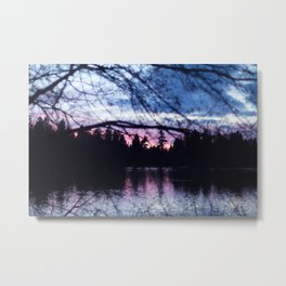 Sunset In Vancouver Metal Print