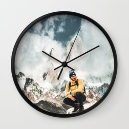 hiking in patagonia Wall Clock