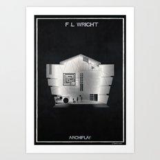 03_ARCHIPLAY_f.l. wright Art Print