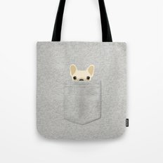 Pocket French Bulldog - Cream Tote Bag