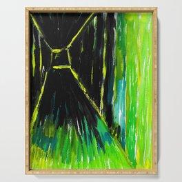 Dark Floors Green Palette By Fairychamber  Serving Tray