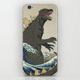 The Great Godzilla off Kanagawa iPhone Skin