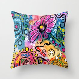 """Tie-Dye Wonderland"" Throw Pillow"
