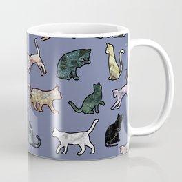 Cats shaped Marble - Violet Blue Coffee Mug
