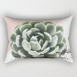 Succulent on Pink Rectangular Pillow