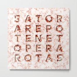 SATOR  AREPO  TENET  OPERA  ROTAS - Magic Spell Metal Print