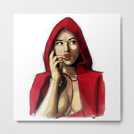 Monica Bellucci - Little Red Riding Hood 2 Metal Print