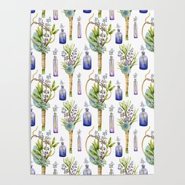 bottles and boutonnieres pattern Poster