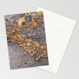 Gold Inlay Marble II Stationery Cards