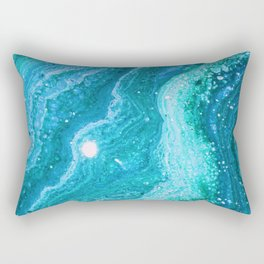 Blue Greenery Rectangular Pillow