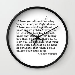 I love you.... Wall Clock