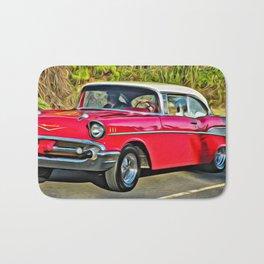 Sunday Drive in the '55 - digital paint Bath Mat