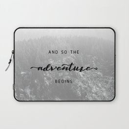And So The Adventure Begins - Snowy Mountain Laptop Sleeve