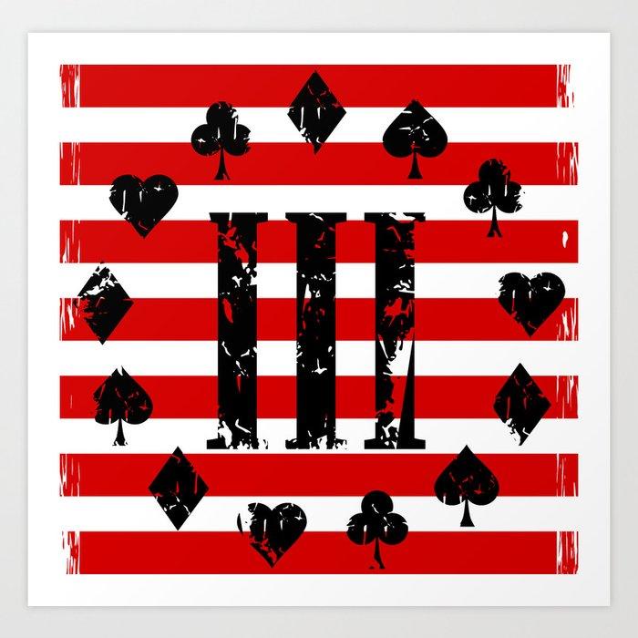 Three Percenter Aces USA Flag Kunstdrucke