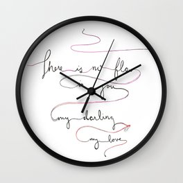 Song of Songs Print Valentine Wall Clock