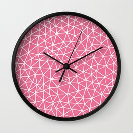 Connectivity - White on Pink Wall Clock