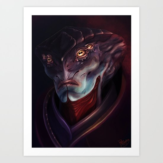 Mass Effect: Javik Art Print