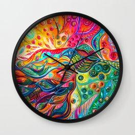 Between worlds Wall Clock