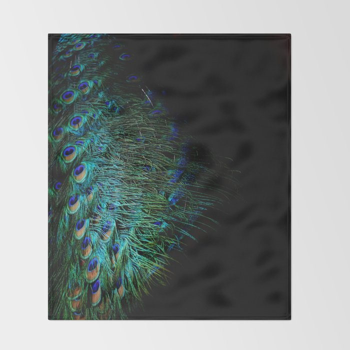 Peacock Details Throw Blanket