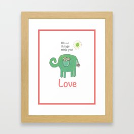 Small things with great love Framed Art Print