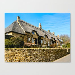 Cotswold Cottages  Canvas Print