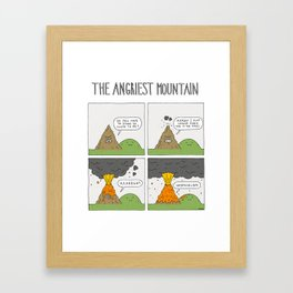The Angriest Mountain Framed Art Print