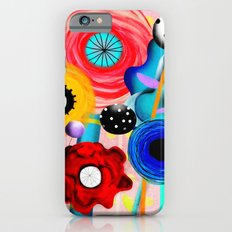 Yellow Polka Dots Floral Bouquet iPhone 6s Slim Case
