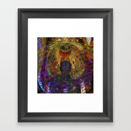 Solar Crown Chakra Framed Art Print