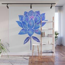 Sacred Lotus – Blue Blossom Wall Mural