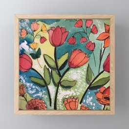 Floral Rhythm Framed Mini Art Print