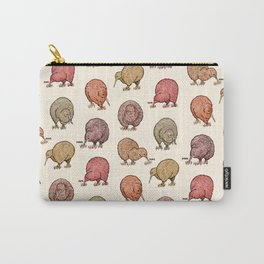 Hungry Kiwis – Warm Earth Tones Carry-All Pouch